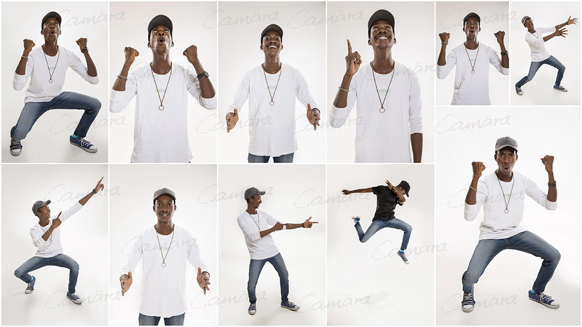 Stock images of a male model expressions
